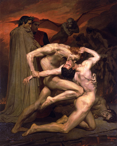 William Bouguereau : Dante et Virgile en Enfer